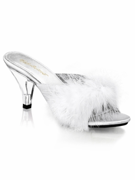 Pleaser Belle-301F Marabou Slipper