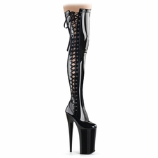 Pleaser Beyond-3050 Lace-Up Thigh High Boot