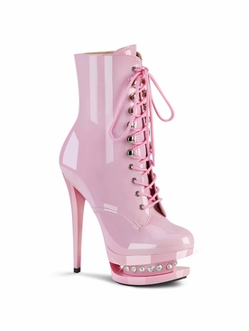 Pleaser Blondie-R-1020 Lace-Up Front Ankle Boot