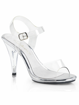 Pleaser Caress-408 Stiletto Heel With Ankle Strap Sandal