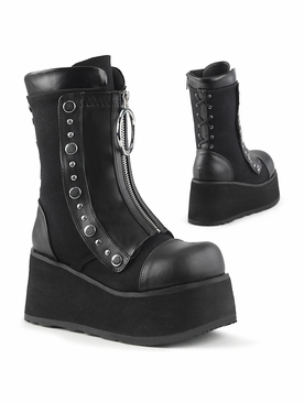 Pleaser Clash-206 Wedge Mid-Calf Boot