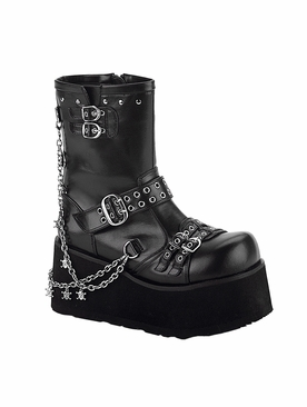 Pleaser Clash-430 Goth Punk Lolita Calf Boot