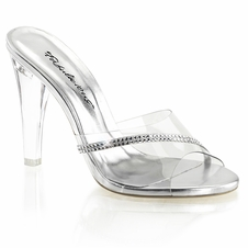 Pleaser Clearly-401R Slide W/ R/S Detail