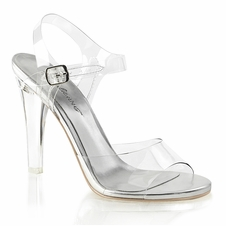 Pleaser Clearly-408 Ankle Strap Sandal