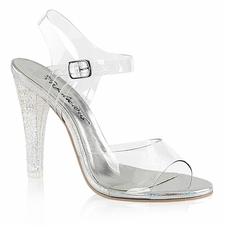 Pleaser Clearly-408MG Ankle Strap Sandal