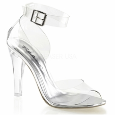 Pleaser Clearly-430 Closed Back Ankle Strap Sandal