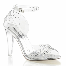 Pleaser Clearly-430RS Open Toe Ankle Strap Sandal