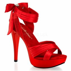 Pleaser Cocktail-568 Criss Cross Pleated Straps Sandals