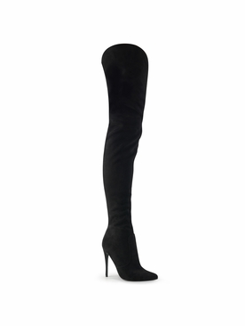 Pleaser Courtly-3017 Thigh High Faux Suede Boots