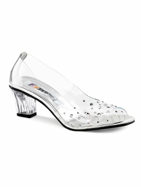 Pleaser Crystal-100  Peep Toe Pump