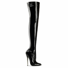 Pleaser Dagger-3000 Plain Stretch Thigh High Boot