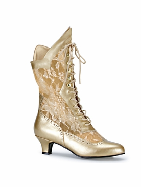 Pleaser Dame-115 Lace Victorian Ankle Boot