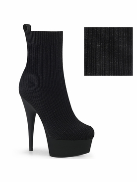 Pleaser Delight-1002-2  Stretch Ribbed Knit Sock Bootie