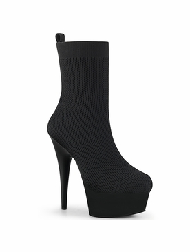 Pleaser Delight-1002 Pull On Stretch Ankle Boot