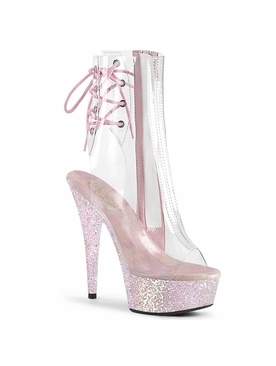 Pleaser Delight-1018C Glittery Platform Ankle Boot