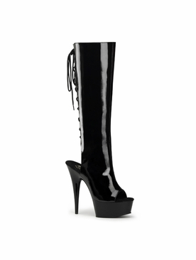 Pleaser Delight-2018 Platform Knee High Boots