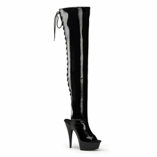 Pleaser Delight-3017 Platform Sexy Thigh High Boot