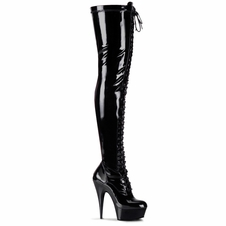 Pleaser Delight-3023 Stretch Thigh High Boot
