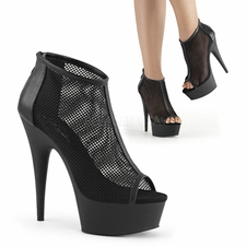 Pleaser Delight-600-12 Mesh Ankle Boot