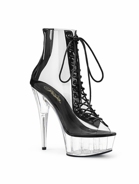 Pleaser Delight-600-34 Peep Toe Ankle Boot