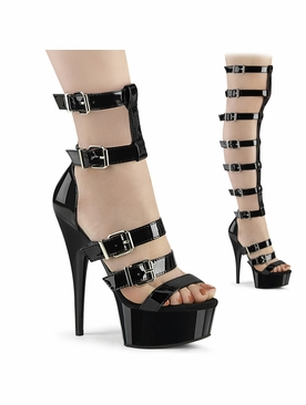 Pleaser Delight-600-46 Gladiator Style Sandal Boot