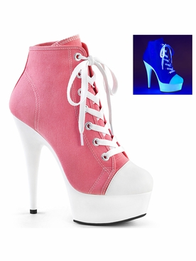 Pleaser Delight-600SK-02 Exotic Dancer Canvas Sneaker