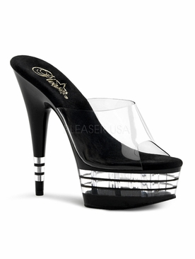 Pleaser Delight-601LN Stiletto Lined Platform Slide