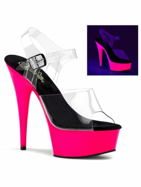 Pleaser Delight-608UV Ankle Strap Sandal