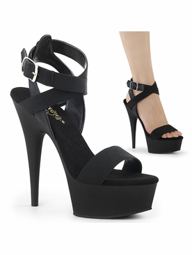 Pleaser Delight-646 Platform Ankle Wrap Sandal