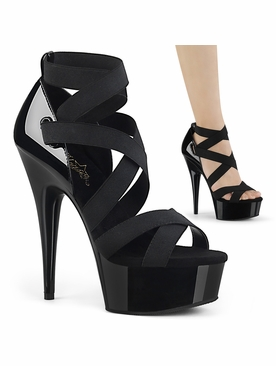 Pleaser Delight-657 Triple Criss Cross Sandal