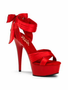 Pleaser Delight-668 Criss-Cross Strap Close Back Sandal