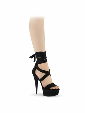 Pleaser Delight-671 Criss Cross Ankle Wrap Sandal