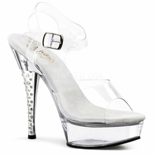 Pleaser Diamond-608 RS Ankle Strap Platform Sandal