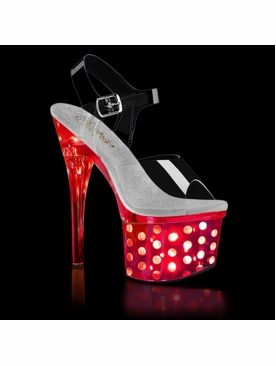 Pleaser Discolite-708DOTS LED Flashing Stripper Heels