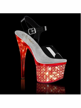 Pleaser Discolite-708FLP LED Flashing Stripper Heels