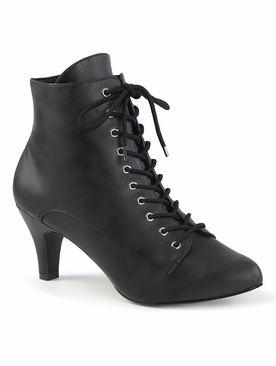 Pleaser Divine-1020 Lace Up Front Ankle Boot