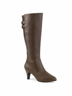 Pleaser Divine-2018 Knee High Boot W/Zipper