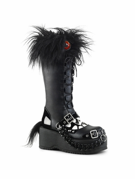 Pleaser Dolly-130 Lace-Up Knee High Monster Boot