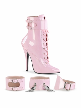 Pleaser Domina-1023 Ankle Boot W/ Ankle Cuffs Size 9