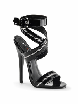 Pleaser Domina-119 Zipper Inlaid Wrap Around Sandal
