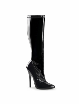 Pleaser Domina-2000 Knee High Stiletto Boot