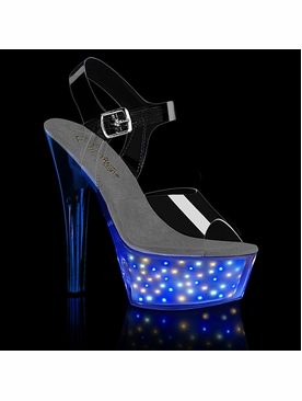 Pleaser Echolite-208 Light-Up Stripper Shoes w/Sound Activation