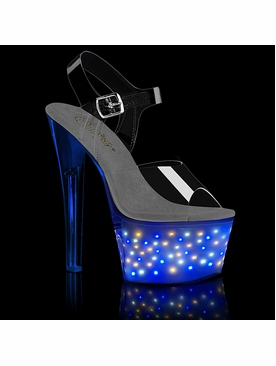 Pleaser Echolite-708 Light-Up Stripper Shoes w/Sound Activation