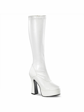Pleaser Electra-2000Z Knee High Boot W/Side Zipper