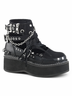 Demonia Emily-317 Buckle Strap Ankle Bootie