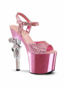 Pleaser Exotic Dancer Shoes Exotic Dancer Shoes Revolver-709G Gun Heel