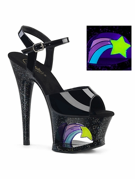 Pleaser Exotic Dancer Shoes Moon-709RSS Ankle Strap Sandal