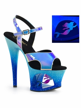 Pleaser Exotic Dancer Shoes Moon-711MER Platform Sandal
