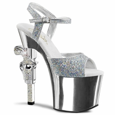 Pleaser Exotic Dancer Shoes Revolver-709G Gun Heel