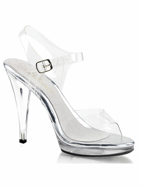 Pleaser Flair-408 Stiletto Heel Ankle Strap Sandal